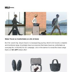 [Muji] MUJI to GO – Make Travel as Comfortable as Life at Home