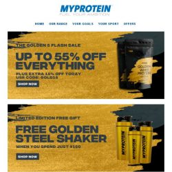 [MyProtein] 24 Hours Only! The 5/5 Flash Sale 🔥