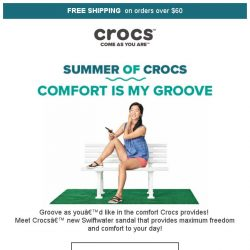 [Crocs Singapore] Groove with Comfort🎵 Enjoy Crocs' new Swiftwater Collection❤️