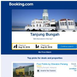 [Booking.com] Deals in Tanjung Bungah from S$ 66