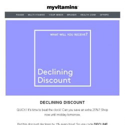 [MyVitamins] QUICK! It's time to beat the clock!