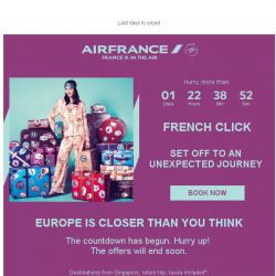 [AIRFRANCE] French Click : 3 days left!