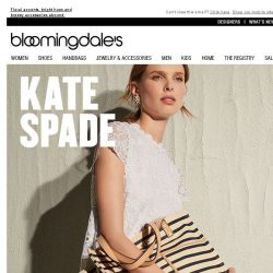 [Bloomingdales] kate spade new york's latest: Straw bags, slides & more