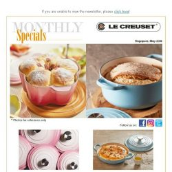 [LeCreuset] Le Creuset May'18 Specials - New Colour Launch Ombre Pink & Sugar Blue