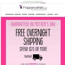 [FragranceNet] NOW OR NEVER: Free Overnight Shipping ✈