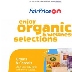 [Fairprice] Enjoy organic & wellness selections!