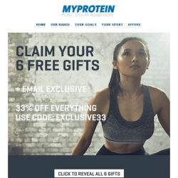 [MyProtein] , 6 Free Gifts For You!