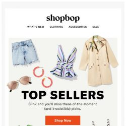 [Shopbop] Top sellers (blink and you'll miss 'em)