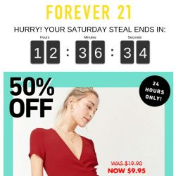 [FOREVER 21] 🚨 CAN'T MISS THIS --> Saturday Steals 🚨