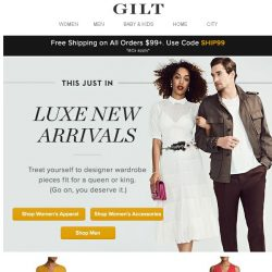[Gilt] This Just In: Luxe New Arrivals For Him & Her