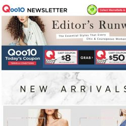 [Qoo10] New Arrivals! Don't miss this timeless classic tank top at $9.90 only! Get yours today!