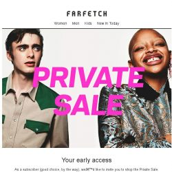 [Farfetch] Exclusive Private Sale  | Limited time only