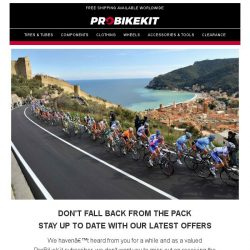 [probikekit] Don't fall back from the pack!