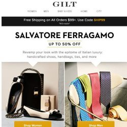 [Gilt] Up to 50% Off: Salvatore Ferragamo