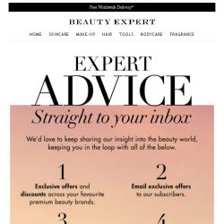 [Beauty Expert] We Want To Keep In Touch...