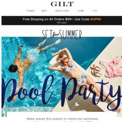 [Gilt] Get set for summer with these poolside must-haves
