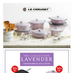 [LeCreuset] Le Creuset - Takashimaya Exclusive - Lavender collection @ 50% off (ends 7 June'18)