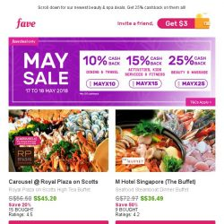 [Fave] Carousel Buffet: 20% Off + An Extra 5% Off! Code Inside