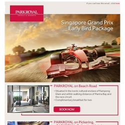 [Hotels.com] Singapore Grand Prix - Early Bird Package