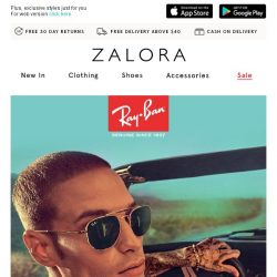[Zalora] Ray-Ban: Command attention in scene-stealing eyewear