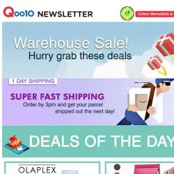 [Qoo10] Warehouse sale! OLAPLEX No.3 Hair Perfector at $23.90 only! Check out the latest Jumpsuits from Korea and other fashion deals too!