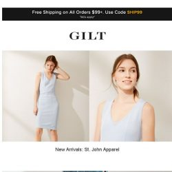 [Gilt] New Arrivals: St. John Apparel | Up to 75% Off: Seychelles and More Start Now