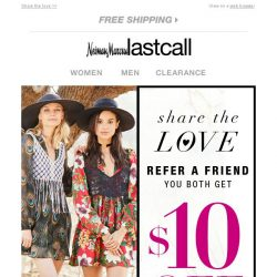 [Last Call] Refer a friend >> you both get $10 off!
