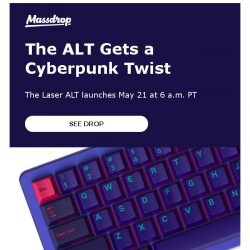 [Massdrop] Massdrop x MiTo Laser ALT Mechanical Keyboard: Available Monday