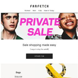 [Farfetch] Private Sale | Shoes, Dresses, Bags