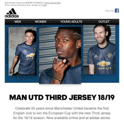 [Adidas] Back in Blue - The New Manchester United Third Jersey.
