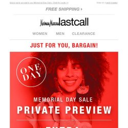 [Last Call] Private Preview: extra 60% off clearance online