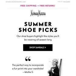 [Neiman Marcus] Buyer picks: The summer shoes you need