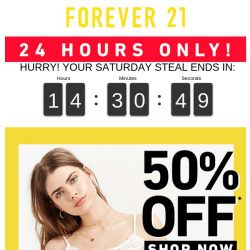[FOREVER 21] 50% OFF. Wait, WHAT?!