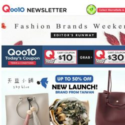 [Qoo10] 📢Fashion Brands Weekend! Check out amazing deals from all these brands below! Shop now!