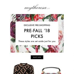 [mytheresa] Only for you: shop the greatest pre-fall 2018 styles before everyone else