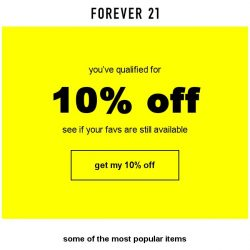 [FOREVER 21] Top products hand selected for you