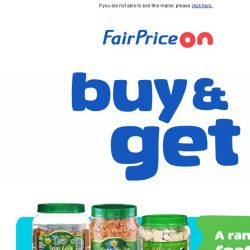 [Fairprice] Free gift deals to chase away your Monday blues