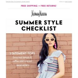 [Neiman Marcus] 3 ways to elevate your summer style