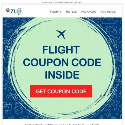 [Zuji] BQ.sg: We have a Flight Coupon Code for you!