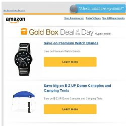 [Amazon] Save on Premium Watch Brands