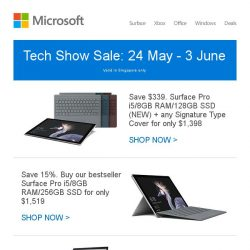 [Microsoft Store] Tech Show Sale: Great savings on Surface and Xbox