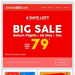 [AirAsiaGo] 🌟 FREE SEATS + HOTELS | 4 Days Left only! 🌟