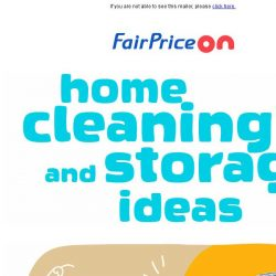 [Fairprice] Home cleaning & storage ideas for a beautiful home