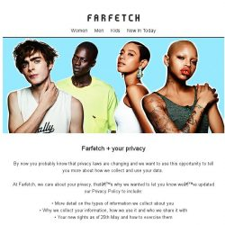 [Farfetch] We just updated our privacy policy