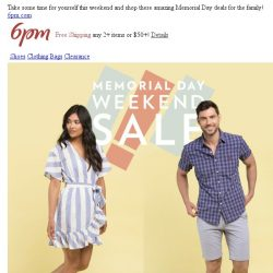 [6pm] The looooong weekend SALE starts now!