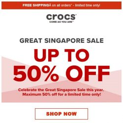 [Crocs Singapore] 【Up to 50% off】 Celebrate ✨Great Singapore Sale✨ with Crocs now‼️