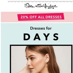[Miss Selfridge] Raise your hand for 20% off day dresses  🙋