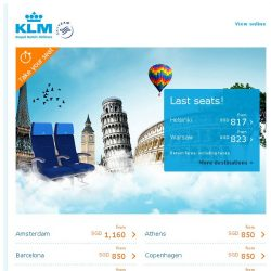 [KLM] Last chance to take your seat at SGD 817 all-in!