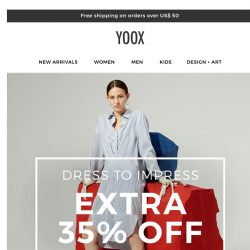 [Yoox] Dress to impress with an EXTRA 35% OFF dresses