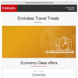 [Emirates] Emirates Travel Treats - fly from SGD 429